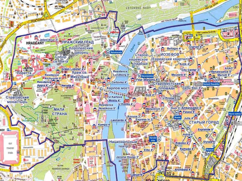 Карта Праги - Полезные советы
