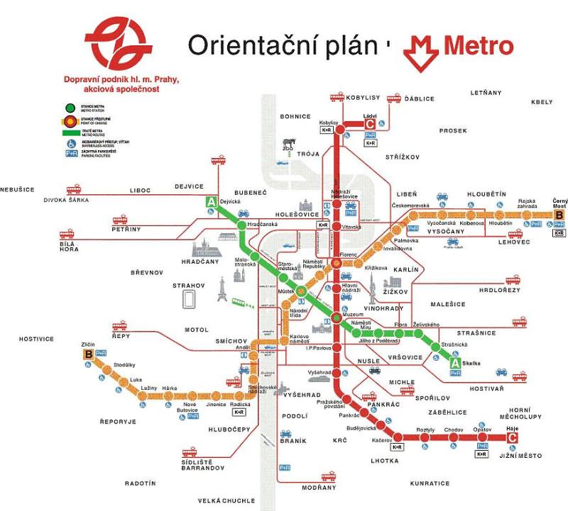 Карта метро и трамваев - Карта