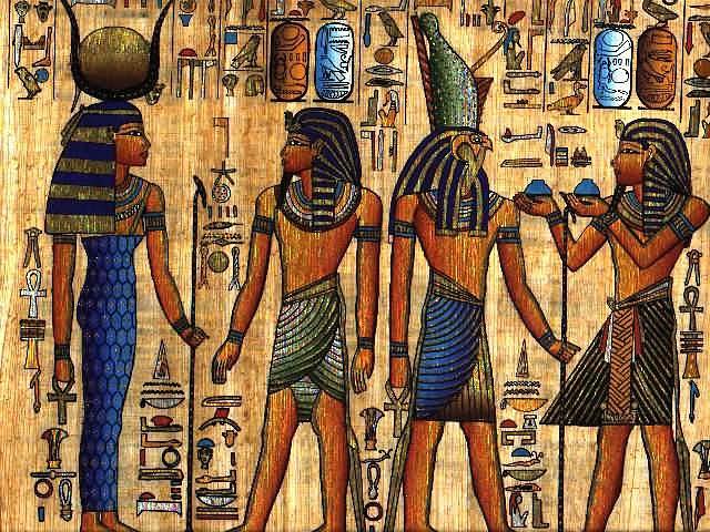Рисунки в храмах египта