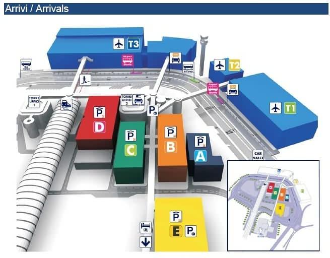 Схема аэропорта Рима Фьюмичино