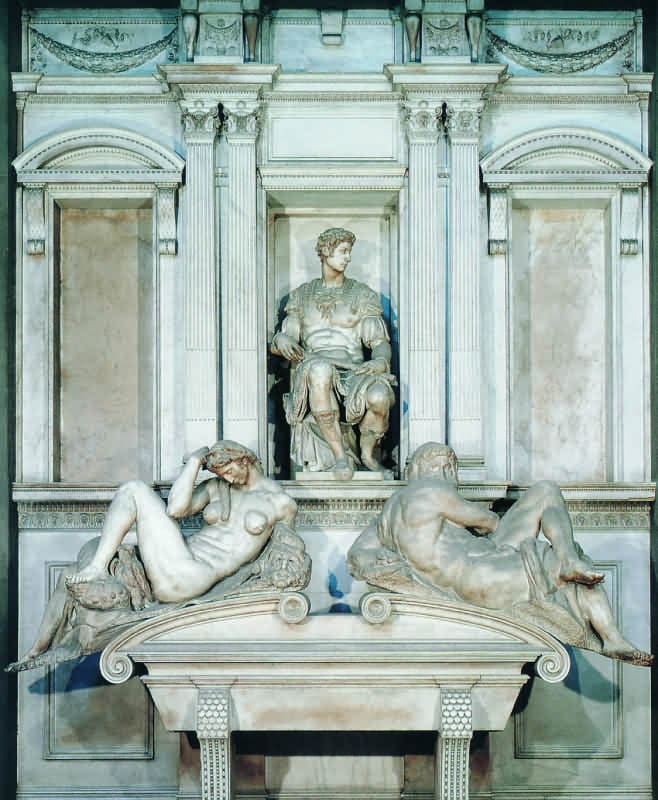 Микелянжело надгробие Мемориальный комплекс с барельефом в человеческий рост Южная